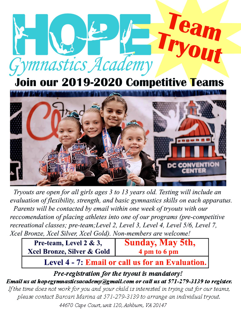 team tryout 2019